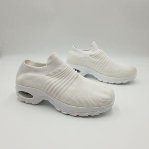 Hypersoft AUS9/EU40 White Lace Free Knit Slip On Sneakers